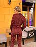 Женский костюм: пиджак с брюками с разным принтом. ОС-8-0419, фото 7