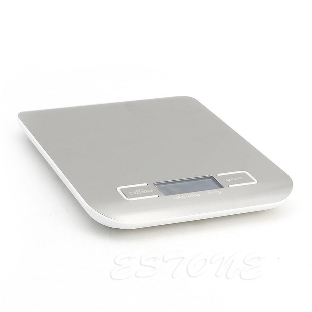 Весы кухонные LIESENSE с жк дисплеем до 5 кг стальные практичные, удобные, просты в управлении