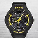 Годинник Skmei 0931, чорний-жовтий, в металевому боксі, фото 5