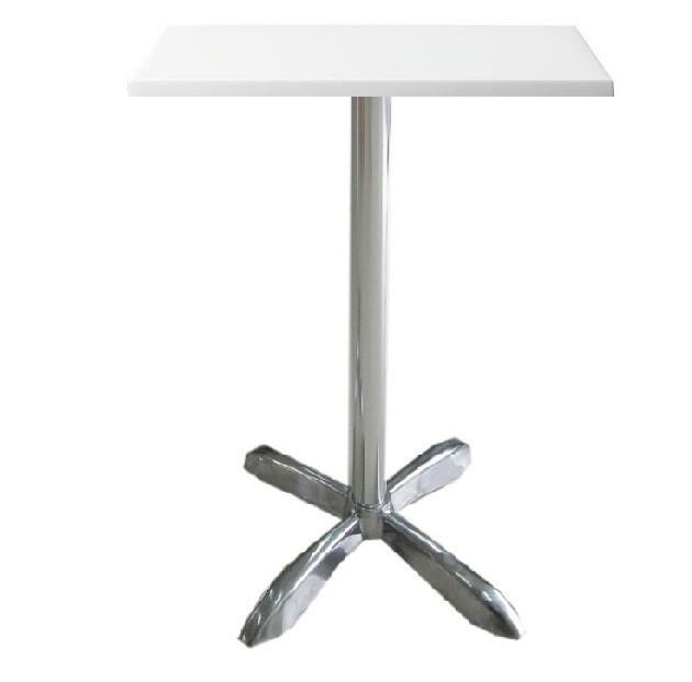 Барный стол Амелия-S белый 60х60х73 см, алюминий, от SDM Group