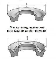 Манжета гидравлическая 45х25х10 ГОСТ 6969-54