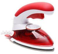 🔝 Дорожный утюг, ручной отпариватель, 2 в 1, цвет - красный, HT-558 B, паровой утюг   🎁%🚚