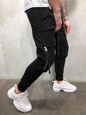 6d9752d2 Мужские спортивные штаны черные с накладными карманами: продажа ...