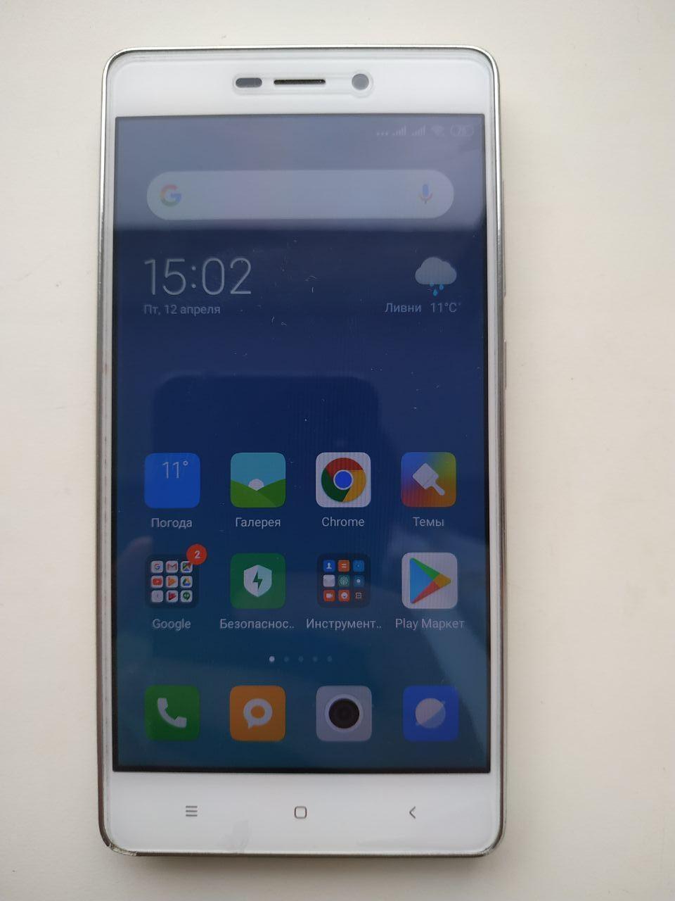 Смартфон Xiaomi Redmi 3s 16GB silver б\у в отличном состоянии