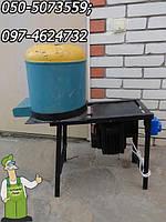Измельчитель сочных корнеплодов, свеклорезка электрическая Пчелка-1 с двигателем от стиральной машины