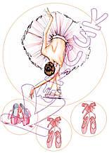 Вафельная картинка танец 2