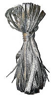 Шнурки люрекс Серебро плоские 100см , фото 1