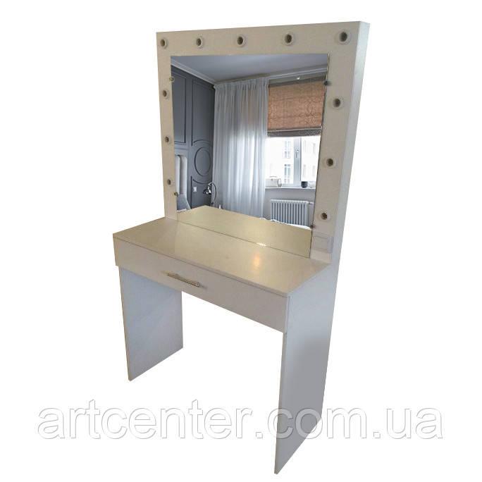 Туалетный столик белый, гримерный столик, стол для визажиста в наличии