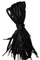 Шнурки люрекс Чорний плоскі 100см, фото 1
