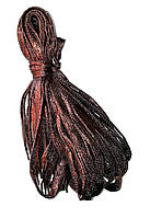 Шнурки люрекс Медный плоские 100см , фото 1
