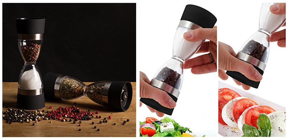 Ручная перечница + солонка 2 в 1 мельница для специй измельчитель с керамическим измельчителем