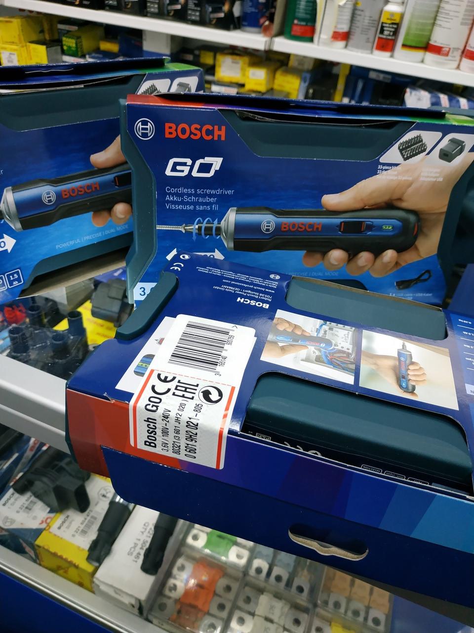 Акумуляторна викрутка Bosch GO Kit професійна