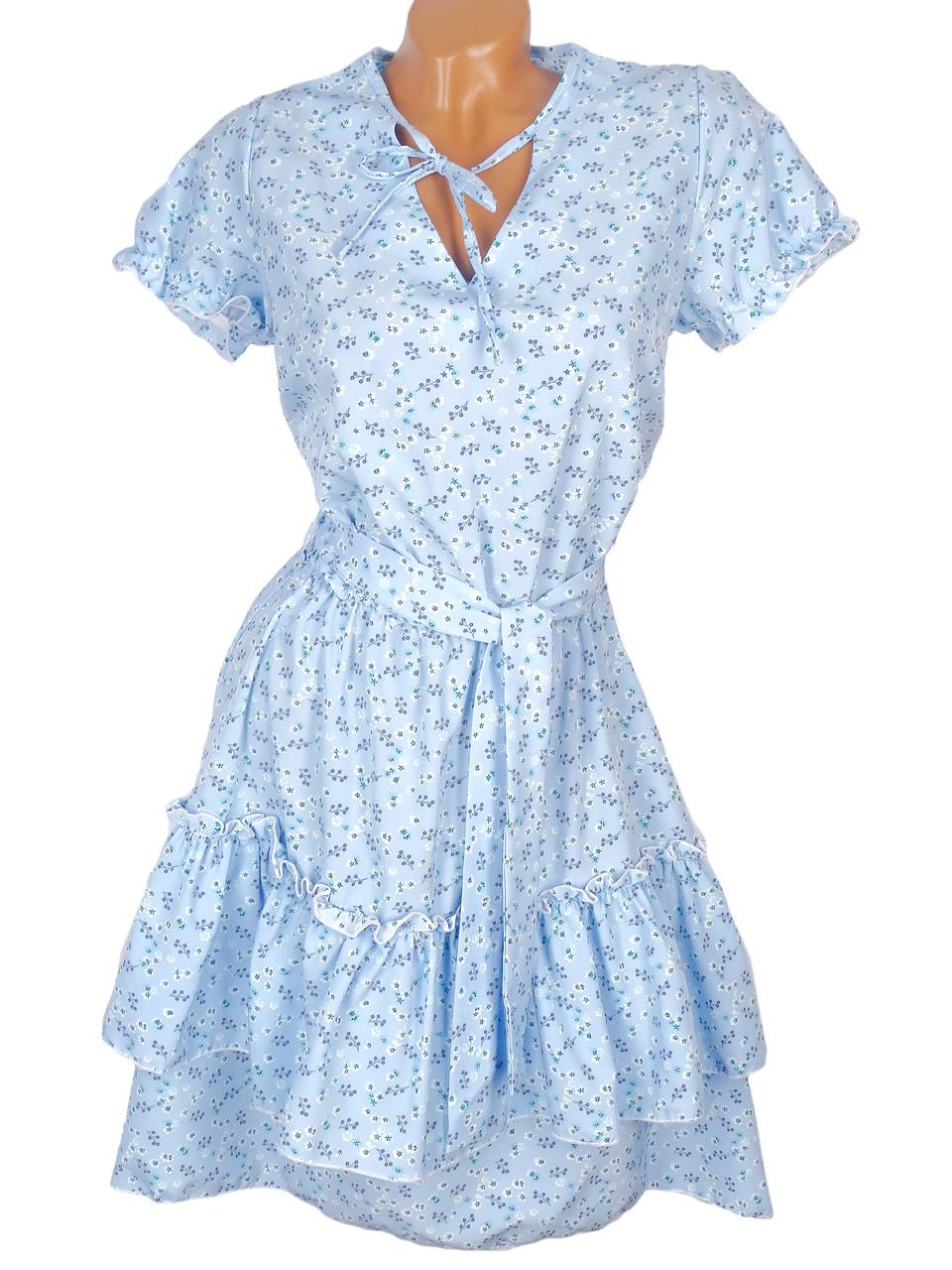 Романтичное платье в мелкий цветочек 42-48