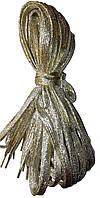 Шнурки люрекс Золото плоские 100см , фото 1