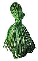 Шнурки люрекс Салатовый плоские 100см , фото 1