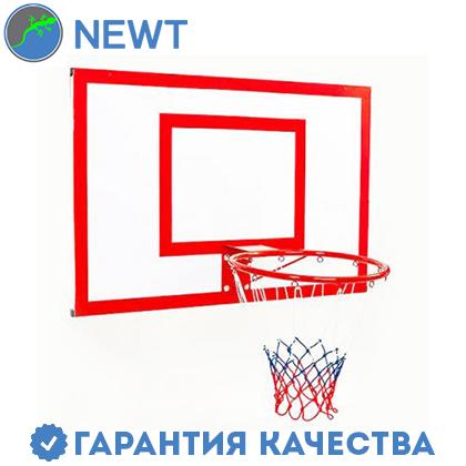 Щит баскетбольный металлический Newt Jordan с кольцом и сеткой 1800х1050мм