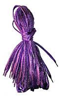 Шнурки люрекс Сиреневый плоские 100см , фото 1