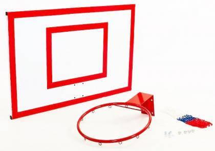 Щит баскетбольный металлический Newt Jordan с кольцом и сеткой 1800х1050мм, фото 2