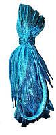 Шнурки люрекс Голубой плоские 100см , фото 1