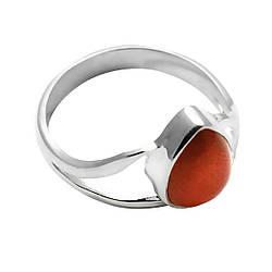 Кольцо из серебра с сердоликом, 8*6 мм., серебро 925, 1703КЦС