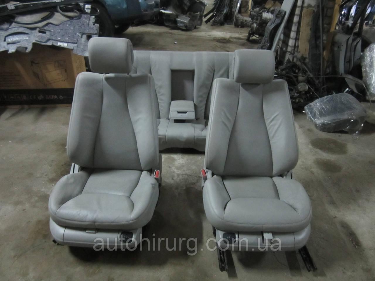 Кожаный салон (серый) MERCEDES-BENZ W220 s-class, фото 1