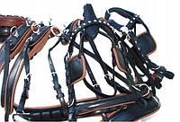 Упряж шкіряна для 2-х коней, фото 1