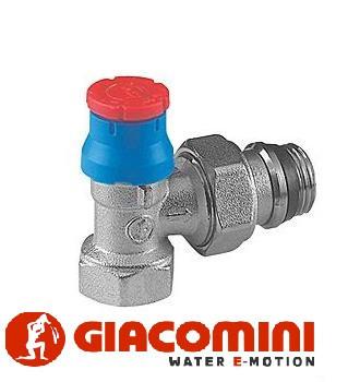 Кутовий термостатичний клапан 1/2 Giacomini