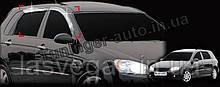 Ветровики хромированные, дефлекторы окон Kia Cerato  hatchback 5D 2004-2008 (Auto clover)