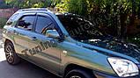 Ветровики, дефлекторы окон Kia Sportage 2004-2010 (Autoclover), фото 3