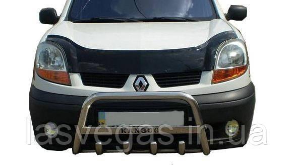 Мухобойка, дефлектор капота Renault Kangoo 2003-2007 (Fly)