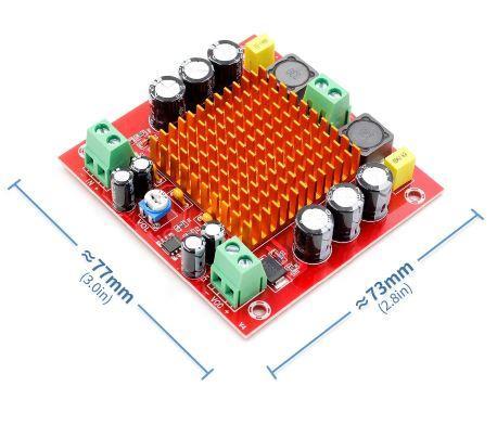 Плата звукового усилителя на основе XH-M544 DC 12V-24V 150W TPA3116DA  MONO