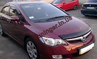 Мухобойка,Дефлектор капота Honda Civic sed. 2006-2011