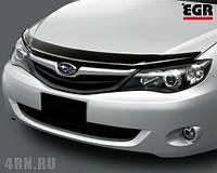Мухобойка, дефлектор капота Subaru Impreza 2007- (EGR)