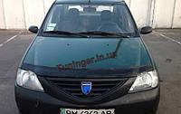 Мухобойка, дефлектор капота Dacia logan