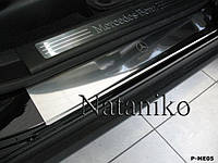Накладки на пороги Mercedes ML W164 2005-2011 (Nata-Niko)