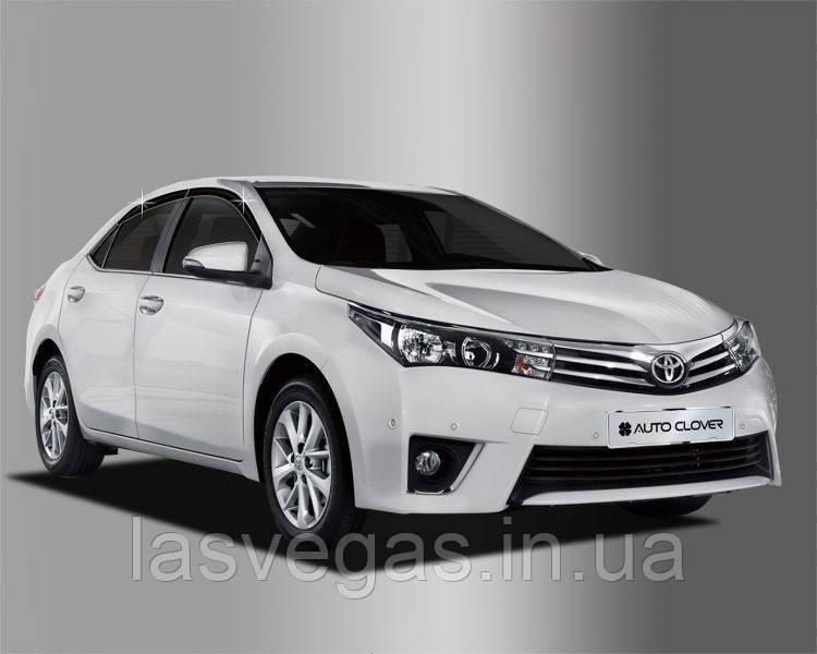 Ветровики, дефлекторы окон Toyota Corolla 2013- (Autoclover)
