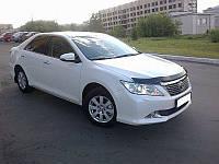 Мухобойка, дефлектор капота Toyota Camry 50 2011-2014 (Sim)