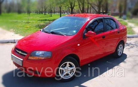 Ветровики, дефлекторы окон Chevrolet Aveo 1-2 Sed. 2002-2005 (A066)