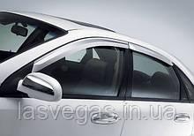 Ветровики,  дефлекторы окон Chevrolet Lacetti Sed. Хромированные 2002-2013