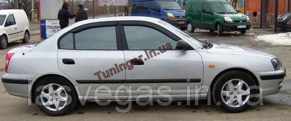 Дефлекторы окон (ветровики) Hyundai  Elantra XD 2000-2006
