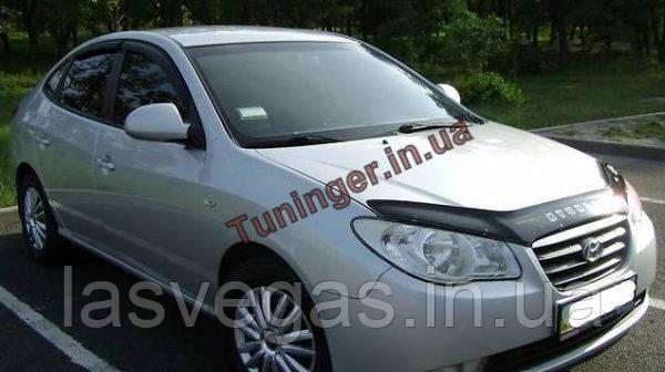 Ветровики, дефлекторы окон Hyundai Elantra HD 2007-2010 (Hic)