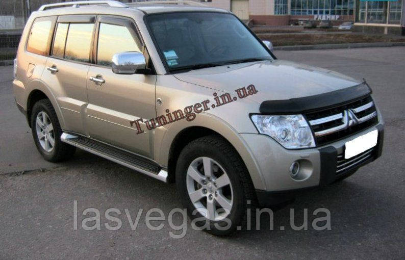 Ветровики, дефлекторы окон Mitsubishi Pajero Wagon 2007- (Hic)