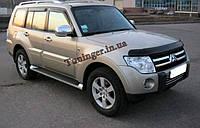 Ветровики, дефлекторы окон Mitsubishi Pajero Wagon 2007- (Hic), фото 1