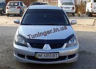 Мухобойка, дефлектор капота Mitsubishi Lancer IX 2003-2007 (VIP)