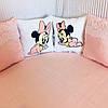 """Бортики-подушки в кругле ліжечко """"Міккі маус"""". 7 шт.+простинь на резинці"""