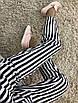 Полосатые женские брюки с поясом, фото 3