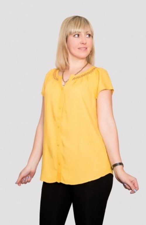 236b834007d Стильная женская блуза больших размеров с коротким рукавом производитель  Индия