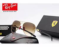 Солнцезащитные мужские очки в стиле RAY BAN 8307 (001/51 brown) Lux, фото 1