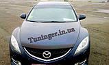 Дефлектор капота (мухобойка) Mazda 6 2008-2012 (EGR), фото 2