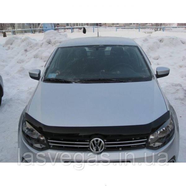 Дефлектор капота (мухобойка) Volkswagen Polo 2010-2017 (EGR)